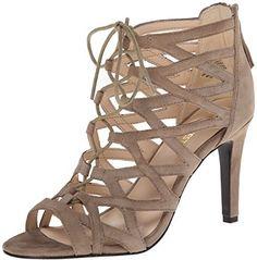 Nine West Women& Authority Suede Dress Sandal Caged Shoes, Caged Sandals, Suede Sandals, Dress Sandals, Gladiator Sandals, Shoes Sandals, Suede Leather Shoes, Nine West Shoes, Handbags On Sale