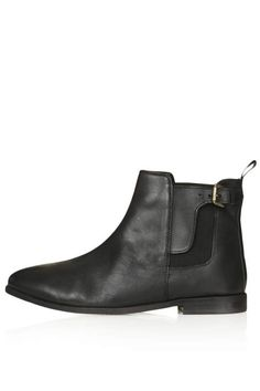Black Leather Chelsea Boots by Topshop. Buy for $75 from Topshop