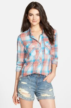 Treasure&Bond Boyfriend Plaid Shirt