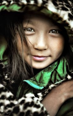 Girl in Bhutan, South Asia by Manuel Librodo Jr.