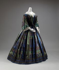 dress ca. 1858-1860 via The Costume Collection of The Metropolitan Museum of Art