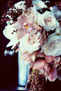 Gorgeous white and pink bouquet