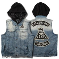 FOB Hooded Jean Vest