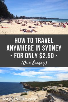 Did you know that you can travel all day on public transport in Sydney for only $2.50 AUD? The catch: this deal is only available on a Sunday.