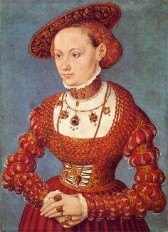 ❤ - LUCAS CRANACH (1472 - 1553) - Portrait of Anna von Minckwitz -1543. Galerie obrazů.