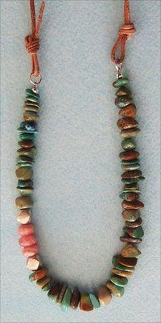Handmade jewelry - handmade Hubei turquoise necklace handmade-beaded-gemstone-jewelry.com