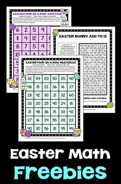 Keep them busy with this Easter math fun! Easter math games and an Easter puzzle sheet!