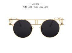 De alta Qualidade Da Moda Inspirado Único Steampunk Rodada Óculos De Sol Das Mulheres Revestimento de Óculos De Sol Dos Homens Óculos Retro oculos de sol MA230 em Óculos de sol de Das mulheres Roupas & Acessórios no AliExpress.com | Alibaba Group