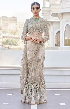 What does that beautiful Sabyasachi Saree Cost? I know I have which is why every time Sabyasachi launches a new collection, I start hunting for Sabyasachi Saree Cost in a frenzy. Sabyasachi Sarees, Indian Sarees, Anarkali, Bollywood Saree, Bollywood Fashion, Lehenga Saree, Bridal Lehenga, Ghagra Choli, Net Saree