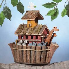 Noah's Ark Birdhouse  Gifts for the Home and Outdoors - Birdhouses, Birdfeeders, Windchimes, Wall Plaques and Clocks
