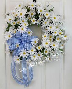 Daisy Grapevine Wreath, Easter Daisy Wreath, Mother's Day Daisy Wreath, Daisy Spring Wreath, Summer Daisy Wreath, Everyday Wreath by WruffleWreathsbyLana on Etsy