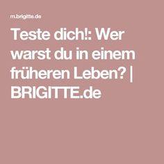 Teste dich!: Wer warst du in einem früheren Leben?   BRIGITTE.de