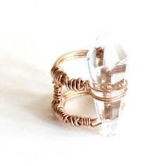 Crystal Ring white, gold, jewelry