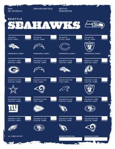 Seattle Seahawks 2014 NFL Schedule