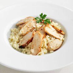 Découvrez la recette Risotto simple au poulet sur cuisineactuelle.fr.