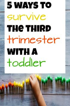 surviving the third trimester with a toddler- The last trimester was the hardest for me with a toddler. Pregnancy with a toddler is possible though. Here's how to survive the third trimester. #thirdtrimester #toddler #pregnant thentherewasfour.com