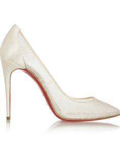 Chaussure de mariée haute couture Christian Louboutin printemps été 2015 Agence Demoiselle capeline wedding planner Bretagne