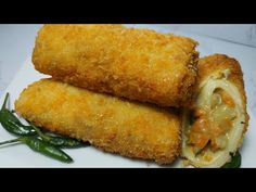 Risoles Sayuran Enak & Ekonomis - YouTube Roti Recipe, Diy Food, Yummy Drinks, Cornbread, Side Dishes, Protein, Appetizers, Cooking Recipes, Snacks