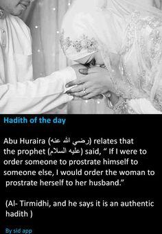 Hadith on husband and wife. #Islam