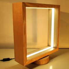 Table Lamp of Ash wood- One of a Kind Creation - Turns at 360 degrees and dimmer lighting Woodworking Projects Diy, Diy Wood Projects, Lampe Edison, Diy Luminaire, Concrete Crafts, Handmade Lamps, Cool Lamps, Wooden Lamp, Wood Design