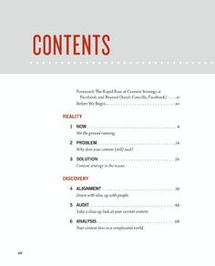 19 best table of contents toc images page layout table of