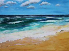 Easy Acrylic Painting On Canvas | seascape acrylic seascape acrylic painting on canvas 12 inches by