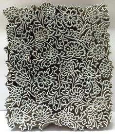 Indian Wooden Hand Carved Textile Printing on Fabric Block Stamp Fine Carving Stamp Printing, Printing On Fabric, Screen Printing, Indian Block Print, Indian Prints, Indian Art, Textiles, Textile Prints, Shibori