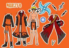 Naruto paper doll by Mauau