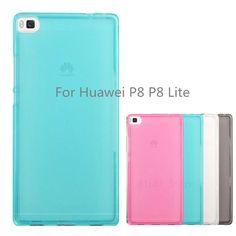 Pudding Silicon Case For Huawei P8 P8  Lite Case Cover Matte Soft TPU Case For Huawei P8 Lite Protector Multi Colors Cover Case