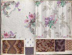 Textile Sample Book  Date:     ca. 1860 Culture:     French Dimensions:     H. 17 1/4 x W. 12 1/2 x Th. 3 1/8 inches 43.8 x 31.8 x 7.9 cm