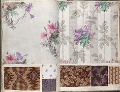 c.1860 Textile Sample Book