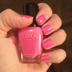 Zoya polish in Jolene. This has been my FAVORITE brand of polish, deff longest lasting
