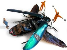 Scott Bain's Taxidermy Beetles - Scott Bain's portrayal of humans using insects to our own whim and will is quite interesting. Using real taxidermy beetles, his Micromachina . Insect Crafts, Insect Art, Bug Art, Fantastic Art, Science And Nature, Art Direction, Concept Art, Art Photography, Illustration Art