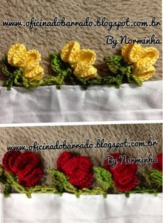 crochet borders a lot ! Crochet Edging Patterns, Crochet Lace Edging, Crochet Hook Set, Crochet Motifs, Crochet Borders, Crochet Trim, Love Crochet, Irish Crochet, Crochet Designs