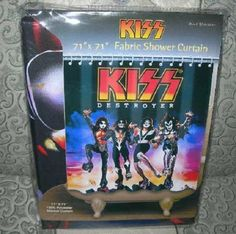 New Kiss Destroyer Fabric Shower Curtain Gene Paul Rock Roll Band Music