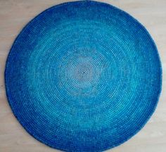 Crochet round rug, 47'' (120 cm)/Crochet Rug/Rugs/Rug/Area Rugs/Floor Rugs/Large Rugs/Handmade Rug/Carpet/Wool Rug by AnuszkaDesign on Etsy