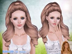 Tornado ponytail hairstyle 200 by Skysims for Sims 3 - Sims Hairs - http://simshairs.com/tornado-ponytail-hairstyle-200-by-skysims/
