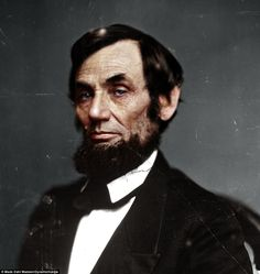 Civil War History Comes to Startling Life with Realistically Colorized Historical Photos: Abraham Lincoln American Presidents, Us Presidents, American Civil War, American History, American Soldiers, Abraham Lincoln, Colorized Historical Photos, Colorized History, Historical Pictures