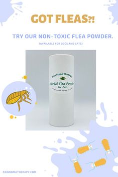 Natural flea and pest control for cats and dogs. Created by holistic veterinarian Dr. Deneen Fasano Handmade with all natural ingredients: Food Grade Diatomaceous Earth, Organic Neem Powder, Organic Yarrow Powder Can be used directly on the pet or on bedding. Natural flea prevention. Safe for cats, dogs, puppies and kittens over 8 weeks of age. #pawromatherapy #naturalfleacontrol #herbalfleapowder #diatomaceousearth #fleatreatment Flea Powder For Cats, Ticks On Cats, Natural Flea Control, Cute Dogs Breeds, Dog Breeds, Funny Animals, Cute Animals, Horse Care Tips, Flea Treatment