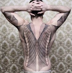 28 Sprawling Linework Tattoos by Chaim Machlev