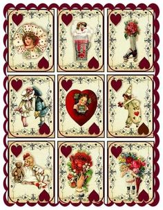 Altered Art Vintage Valentine Playing