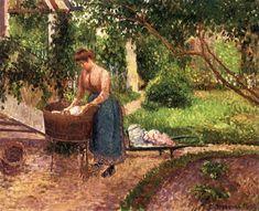 Camille Pissarro Laundress at Eragny