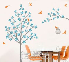 Hey, I found this really awesome Etsy listing at https://www.etsy.com/listing/122408409/tree-wall-decal-nursery-wall-decal-birds