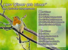 Frühlingsgedicht Herr Winter geh hinter