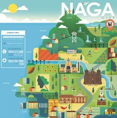 Naga Excursions is the tourism brand of Metro Naga and is managed by the Arts, Culture and Tourism Office (ACTO) of the City Government of Naga. City Government, Travel Brochure, Philippines Travel, Tourism, Culture, Projects, Behance, Illustrations, Gallery