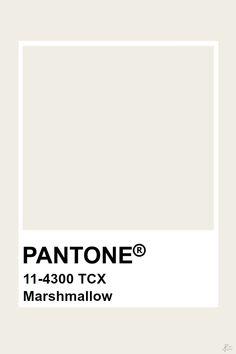 Pantone Marshmallow