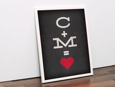 Buchstaben & Schriftzüge - Poster mit euren Initialen inkl. Bilderrahmen - ein Designerstück von nochwear bei DaWanda
