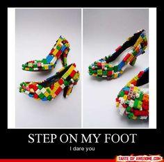 Step on my foot- I dare you!  BAAAAAAAAAAHAHAHAH!! *dying*