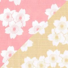 Tissu japonais avec un motif sur chaque côté