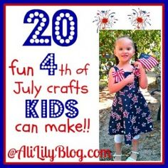 Kid friendly 4th of July crafts at AliLilyBlog.com {lots of fun crafts! Must remember to do this! :) }